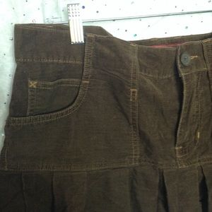 Abercrombie & Fitch Skirts - ABERCROMBIE & FITCH Brown Corduroy Ruffle Skirt 6
